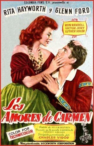 """Resultado de imagen de """"Los amores de Carmen""""   1948 de Charles Vidor"""
